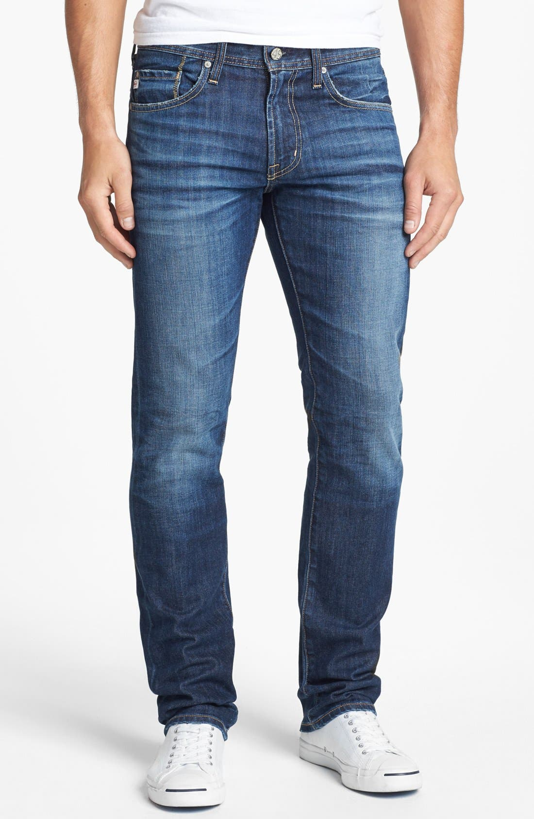 Main Image - AG 'Matchbox' Slim Fit Jeans (Ten Years)