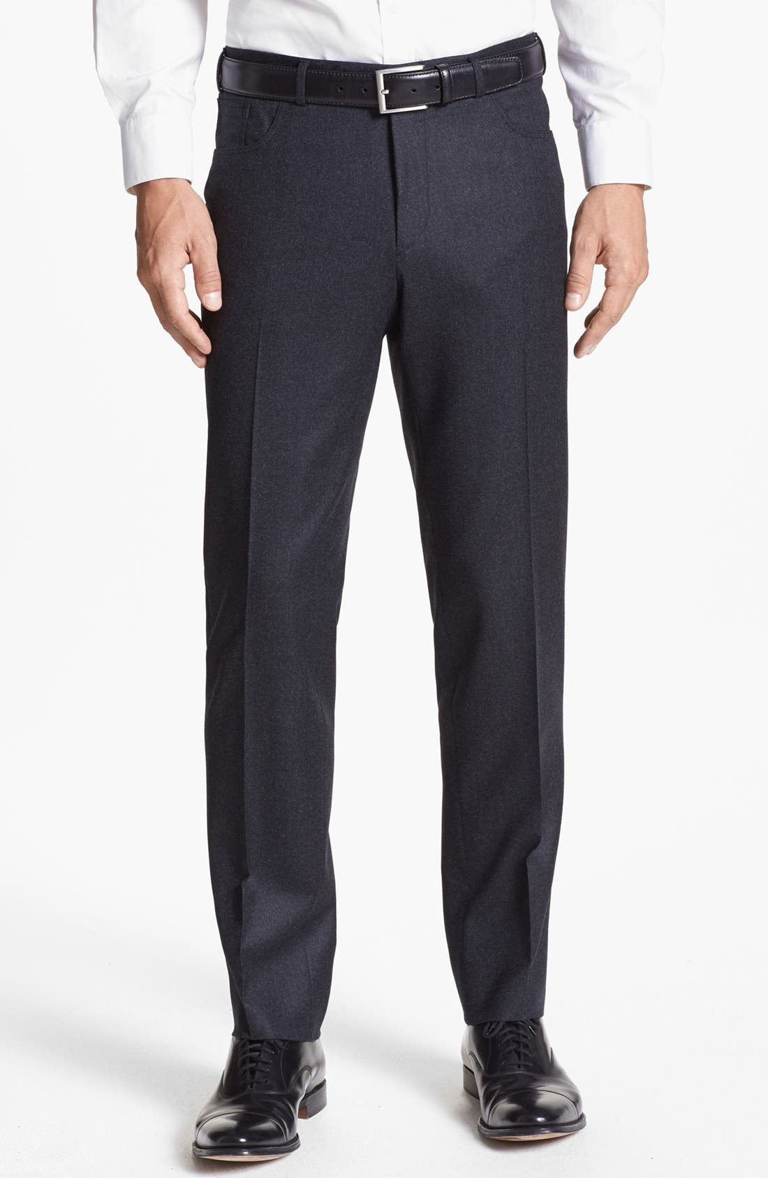 Alternate Image 1 Selected - Canali Five Pocket Wool Trousers