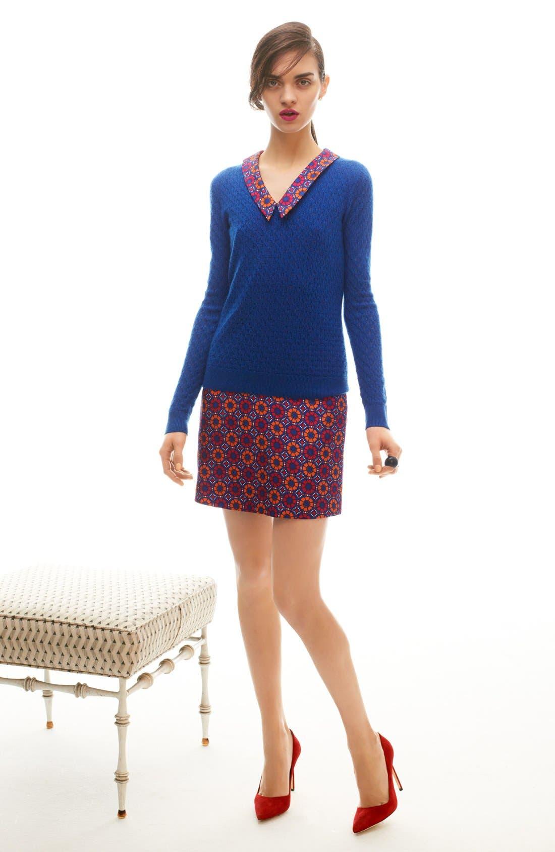 Alternate Image 4  - Miss Wu Geo Tile Print Silk Dress (Nordstrom Exclusive)