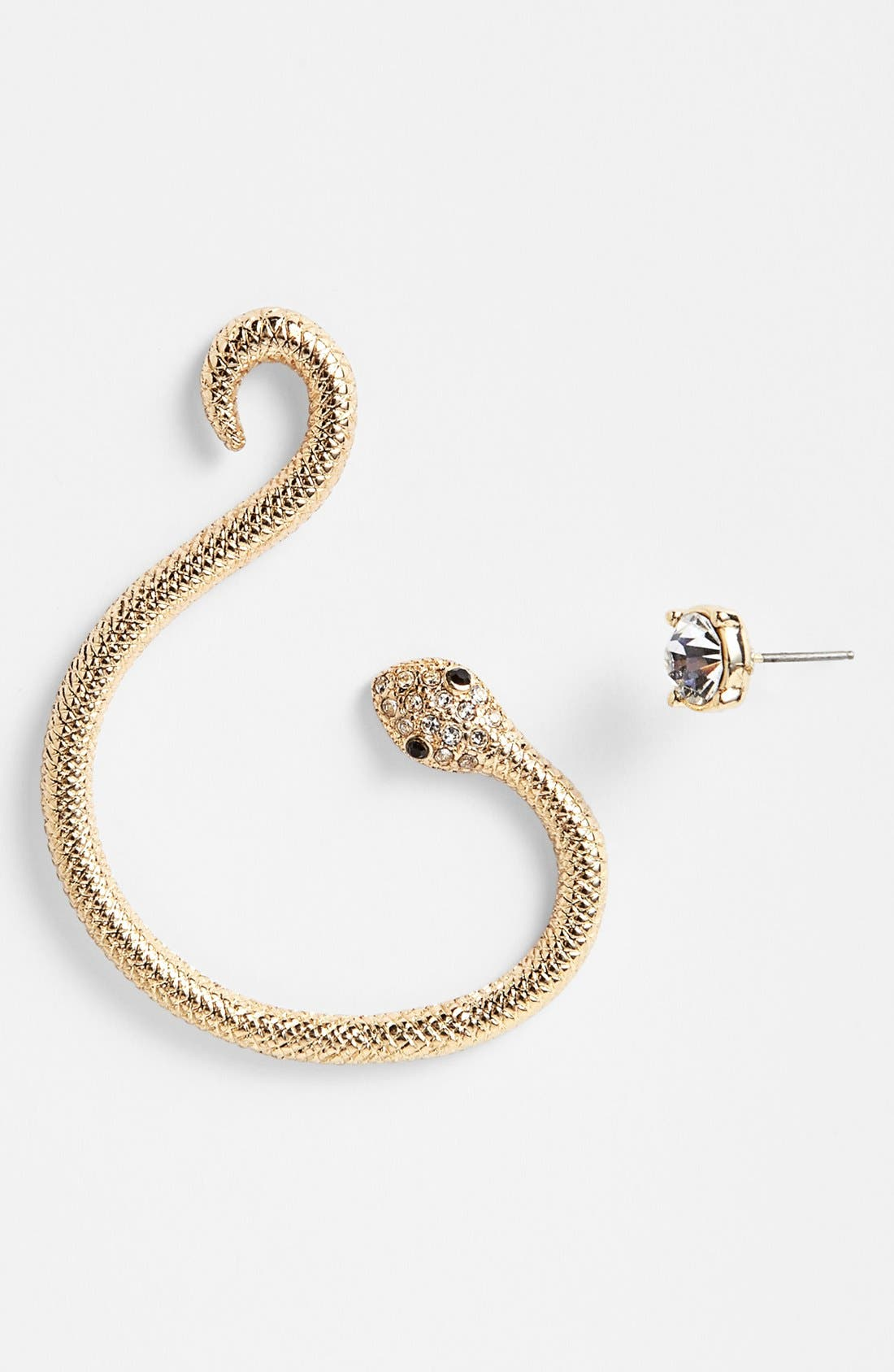 Main Image - Leith 'Snake Coil' Ear Cuff & Stud