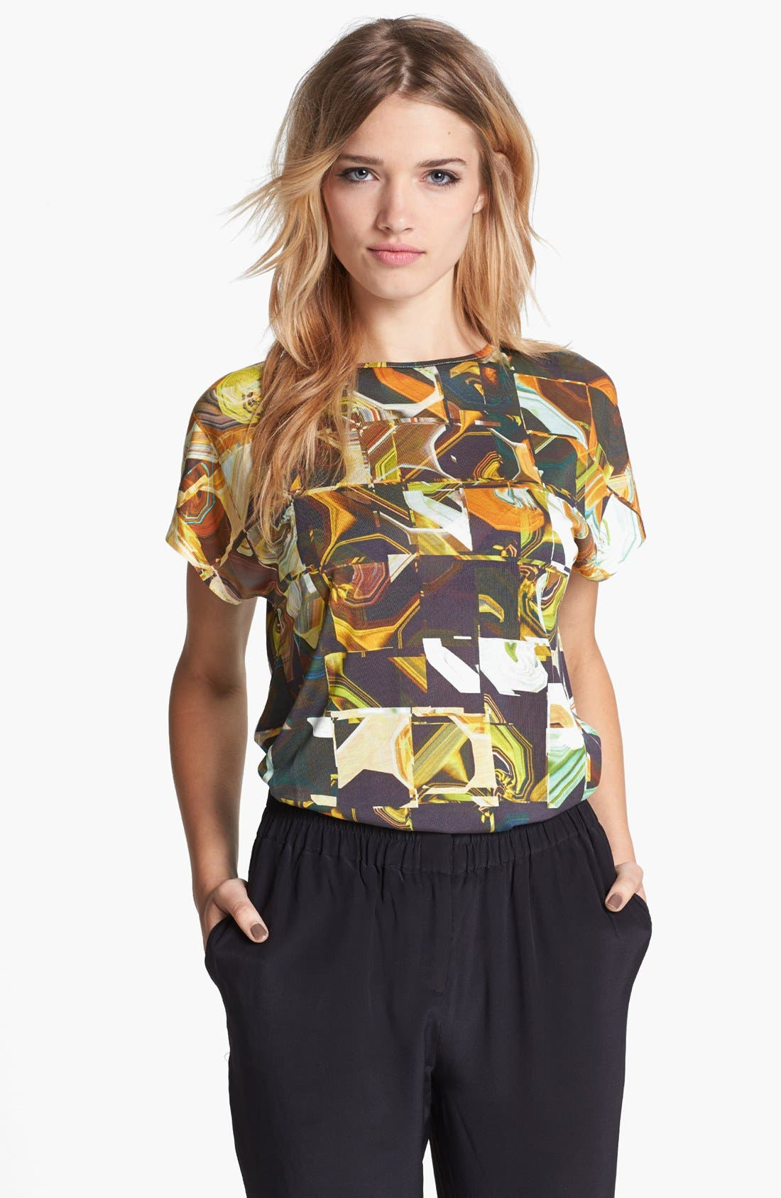 Alternate Image 1 Selected - Ted Baker London Square Print Tee