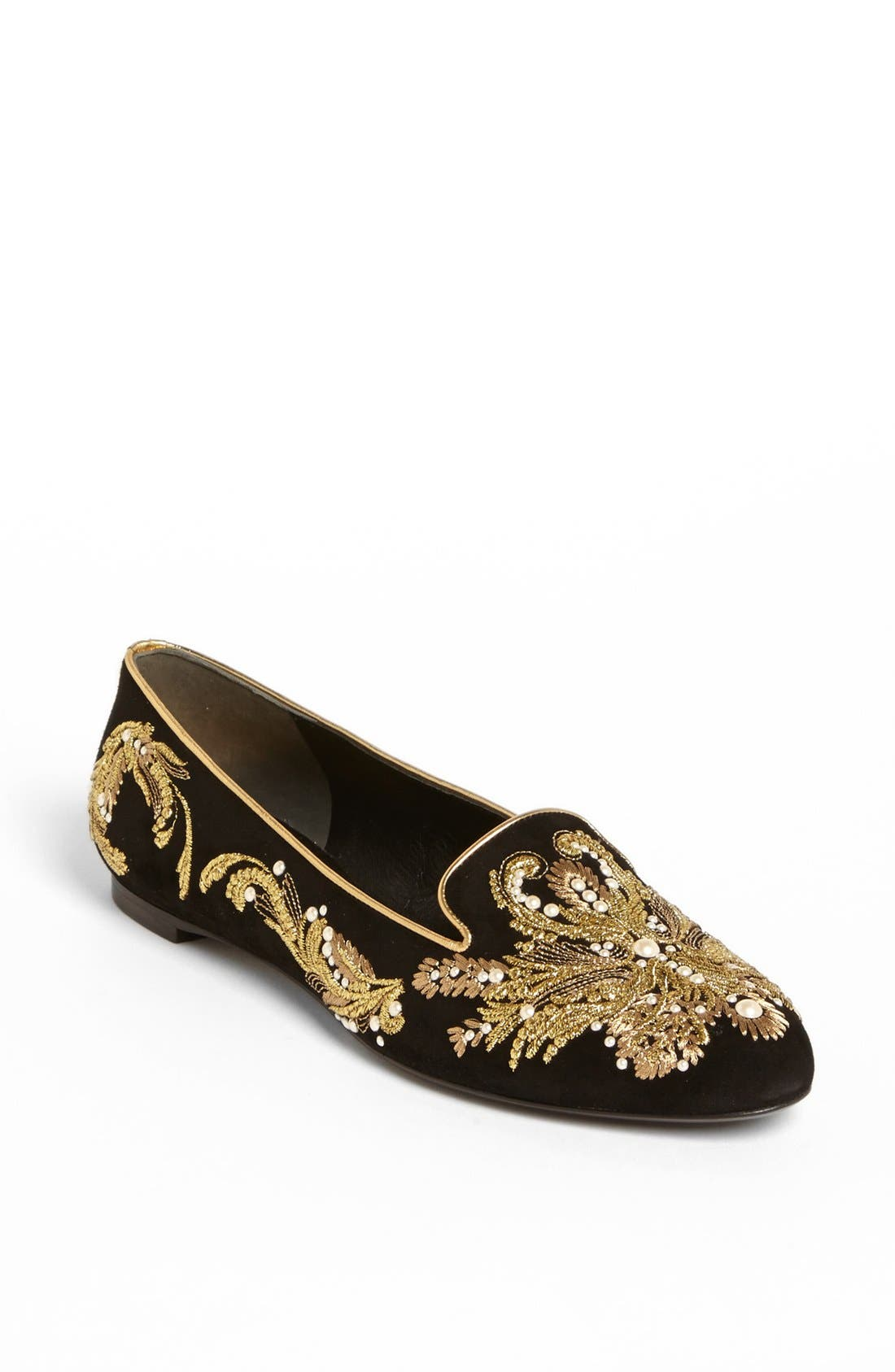 Alternate Image 1 Selected - Alexander McQueen Embroidered Flat