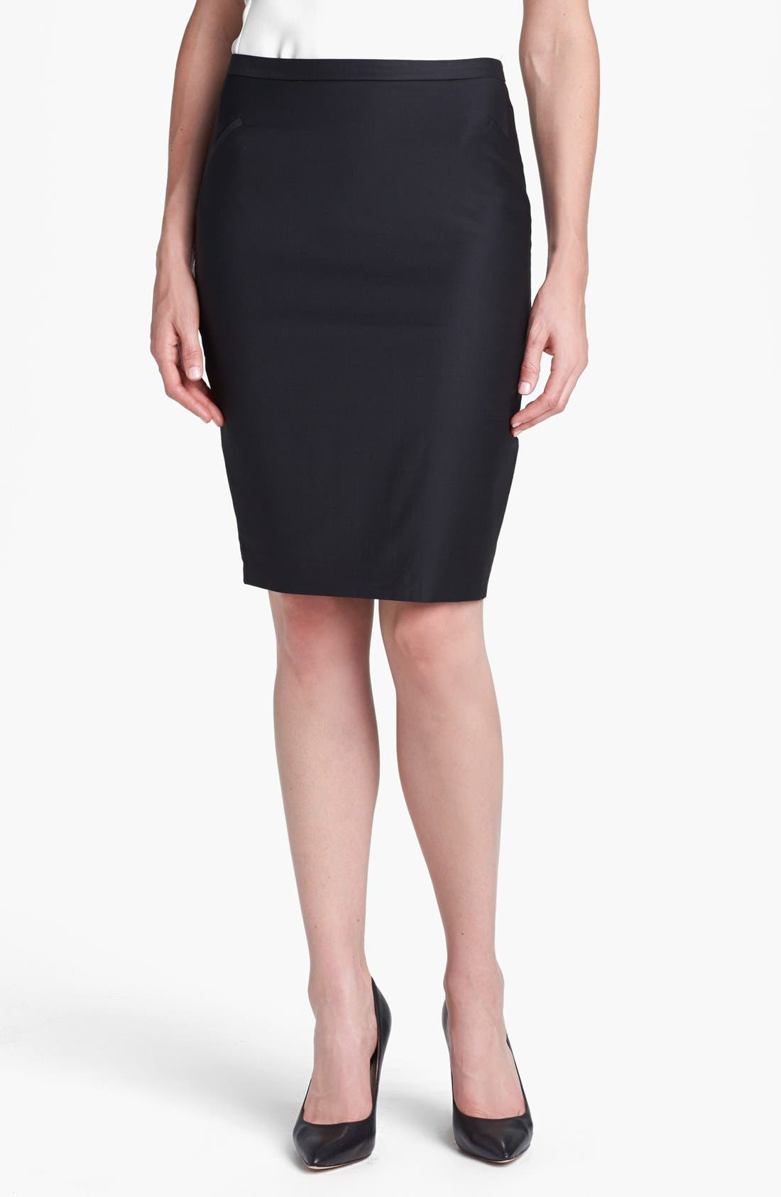 Main Image - Ted Baker London 'Shiny Lavanta' Pencil Skirt