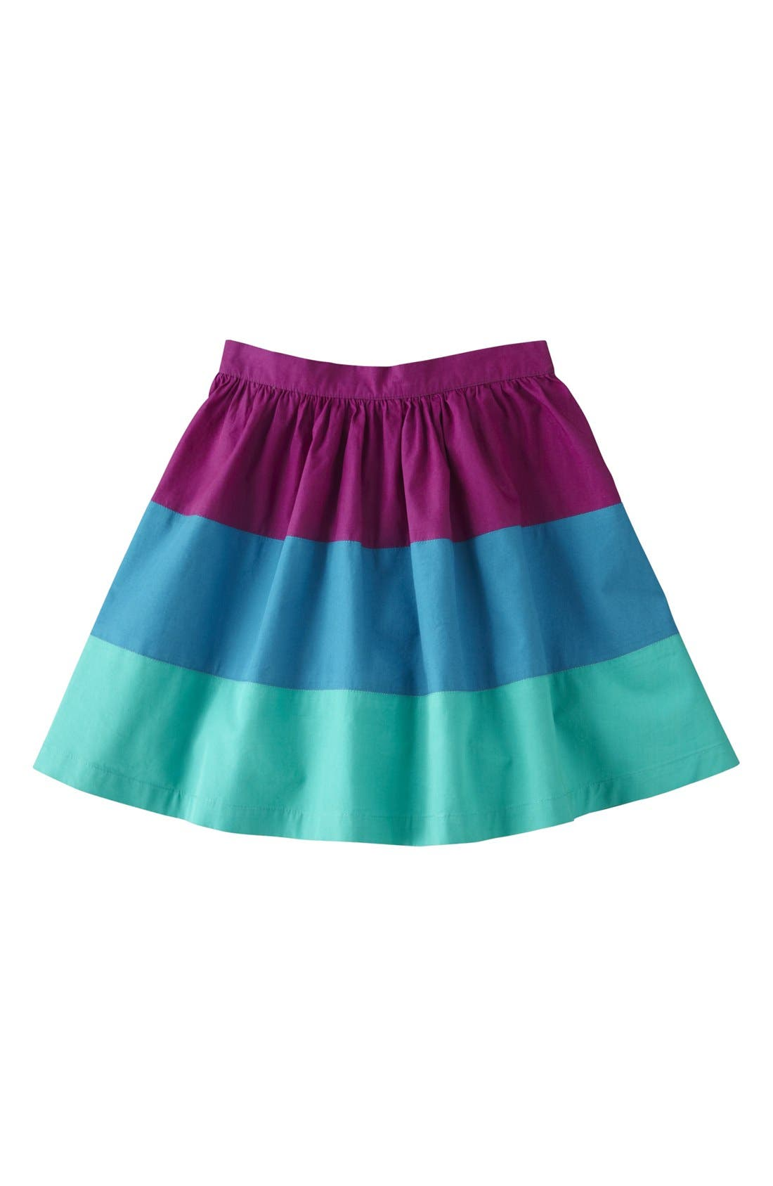 Alternate Image 1 Selected - Mini Boden Colorblock Skirt (Toddler Girls, Little Girls & Big Girls)