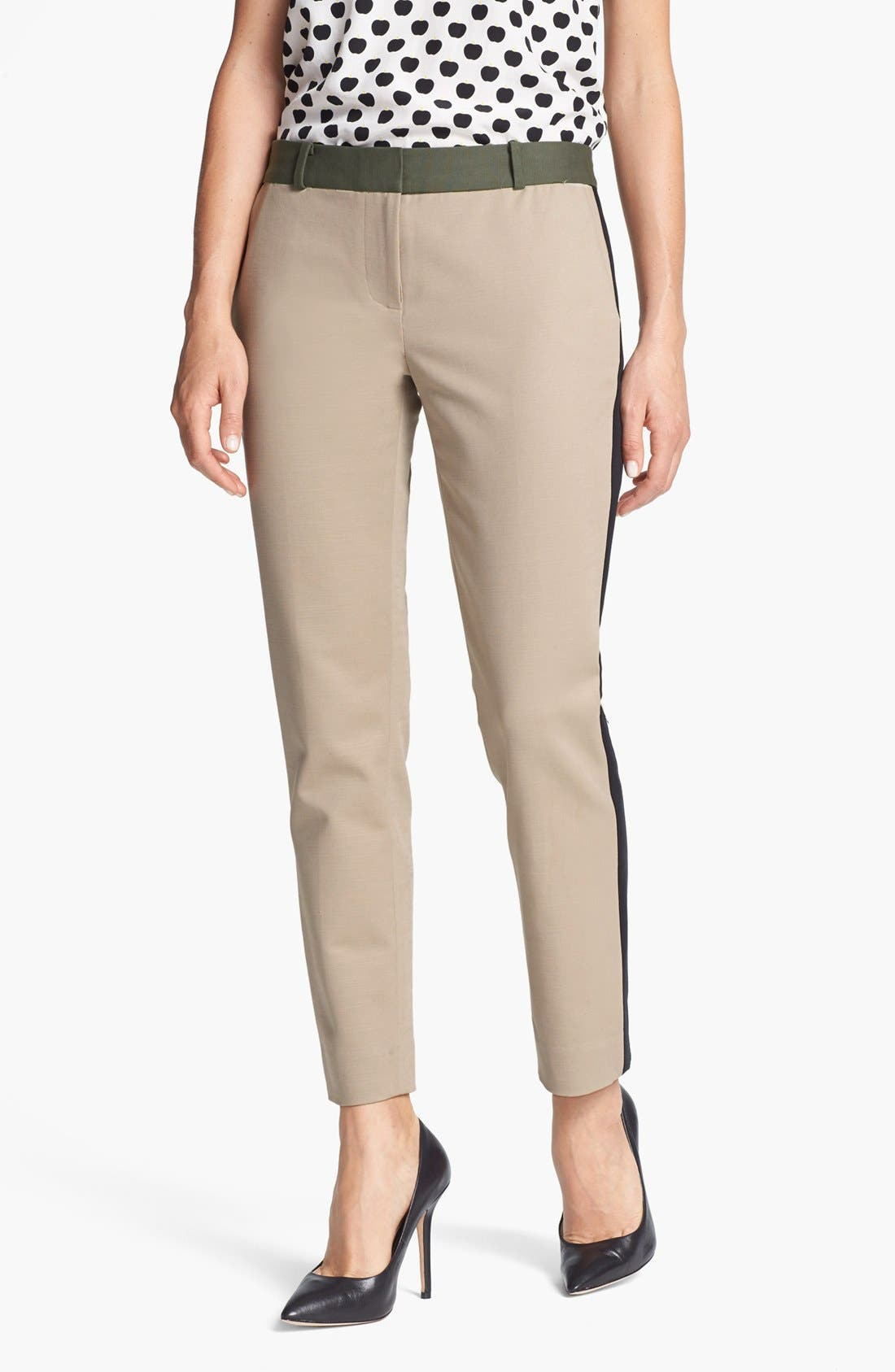 Main Image - kate spade new york 'caden' stretch cotton pants