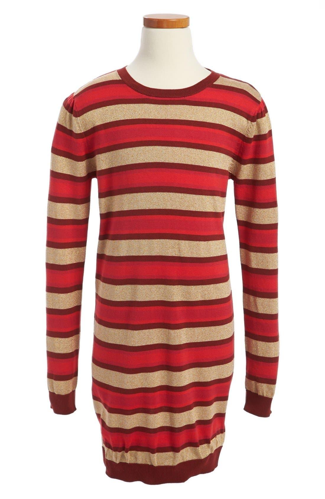 Alternate Image 1 Selected - LITTLE MARC JACOBS Long Sleeve Stripe Dress (Toddler Girls, Little Girls & Big Girls)