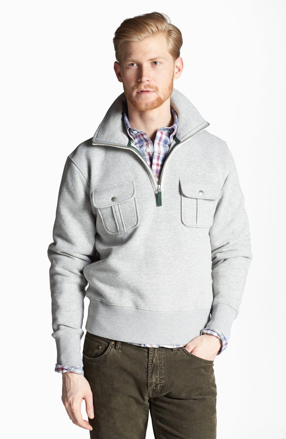 Main Image - Gant by Michael Bastian Half-Zip Pullover Sweatshirt