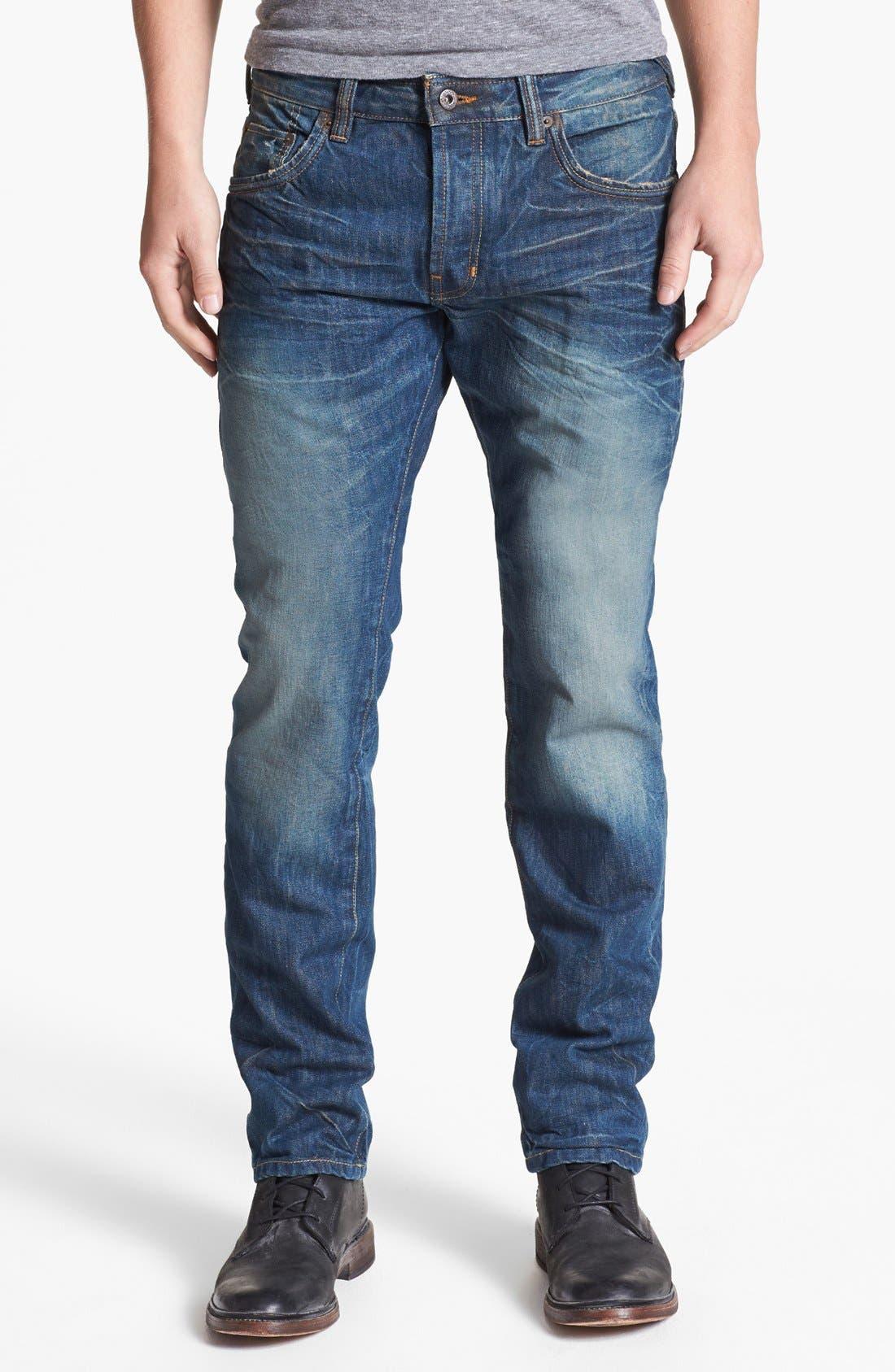 Alternate Image 2  - Natural Selection Denim Narrow Slim Straight Leg Jeans (Saddle)
