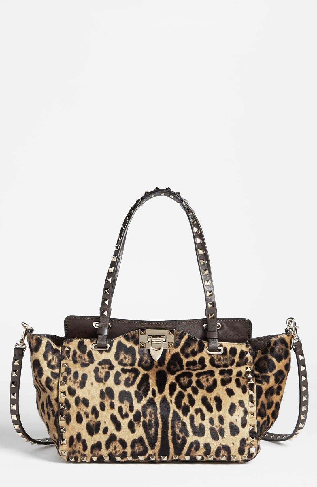 Alternate Image 1 Selected - Valentino 'Rockstud - Mini Cavallino' Calf Hair Crossbody Bag