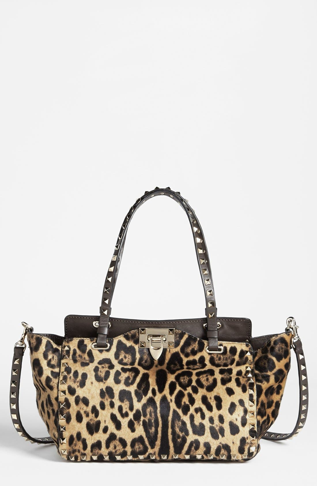 Main Image - Valentino 'Rockstud - Mini Cavallino' Calf Hair Crossbody Bag
