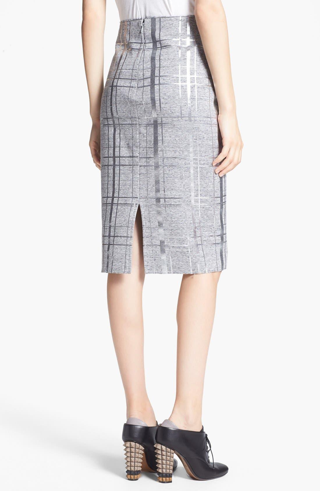 Alternate Image 2  - Elizabeth and James 'Layla' Foiled Pencil Skirt