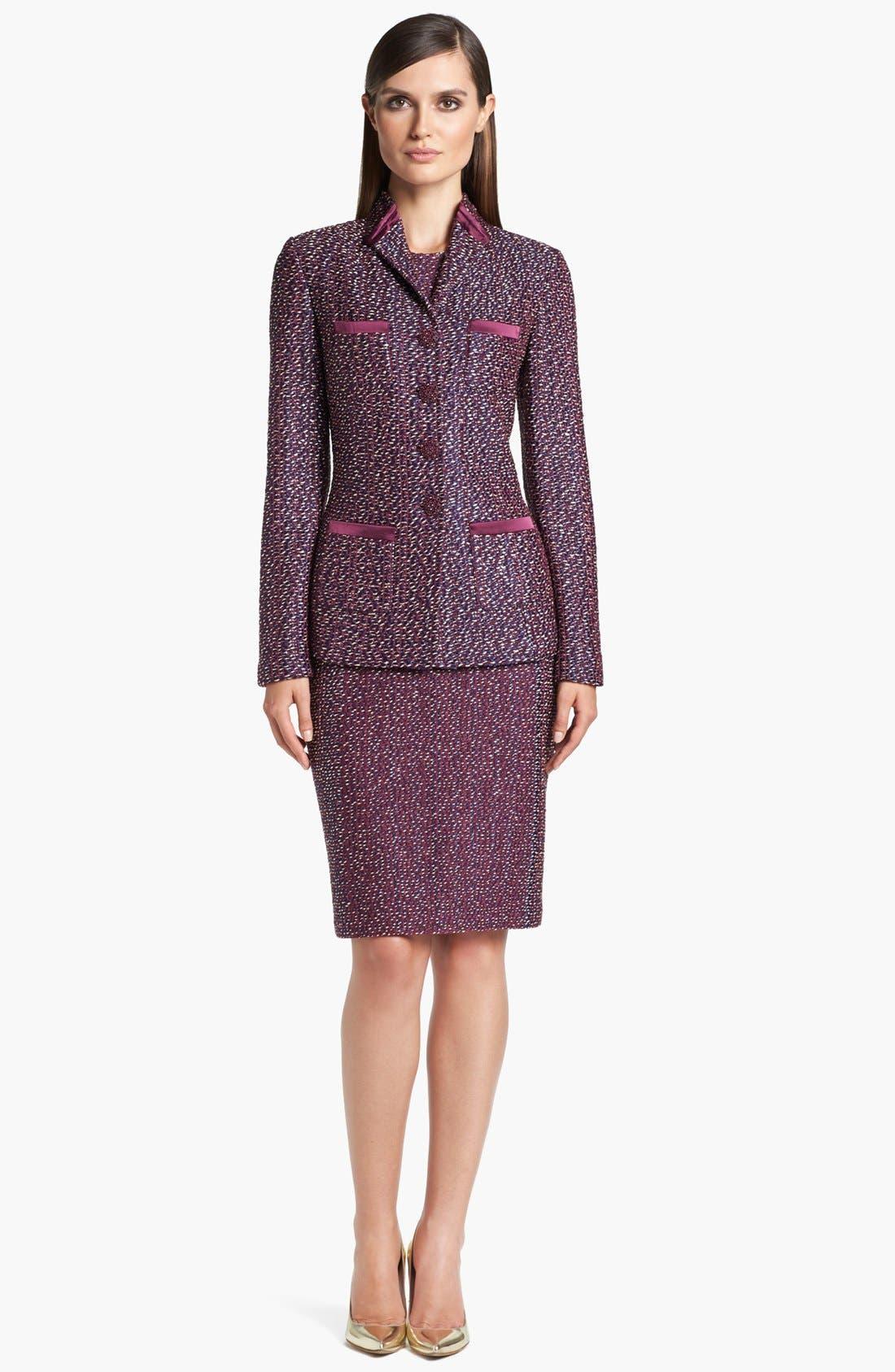 Alternate Image 2  - St. John Collection Dash Tweed Knit Jacket