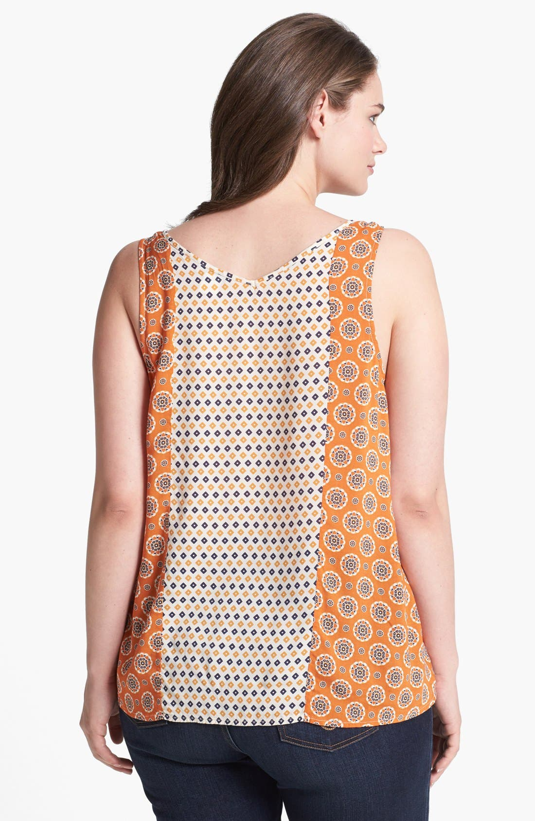 Alternate Image 2  - Lucky Brand 'Caelyn' Mixed Print Tank (Plus Size)