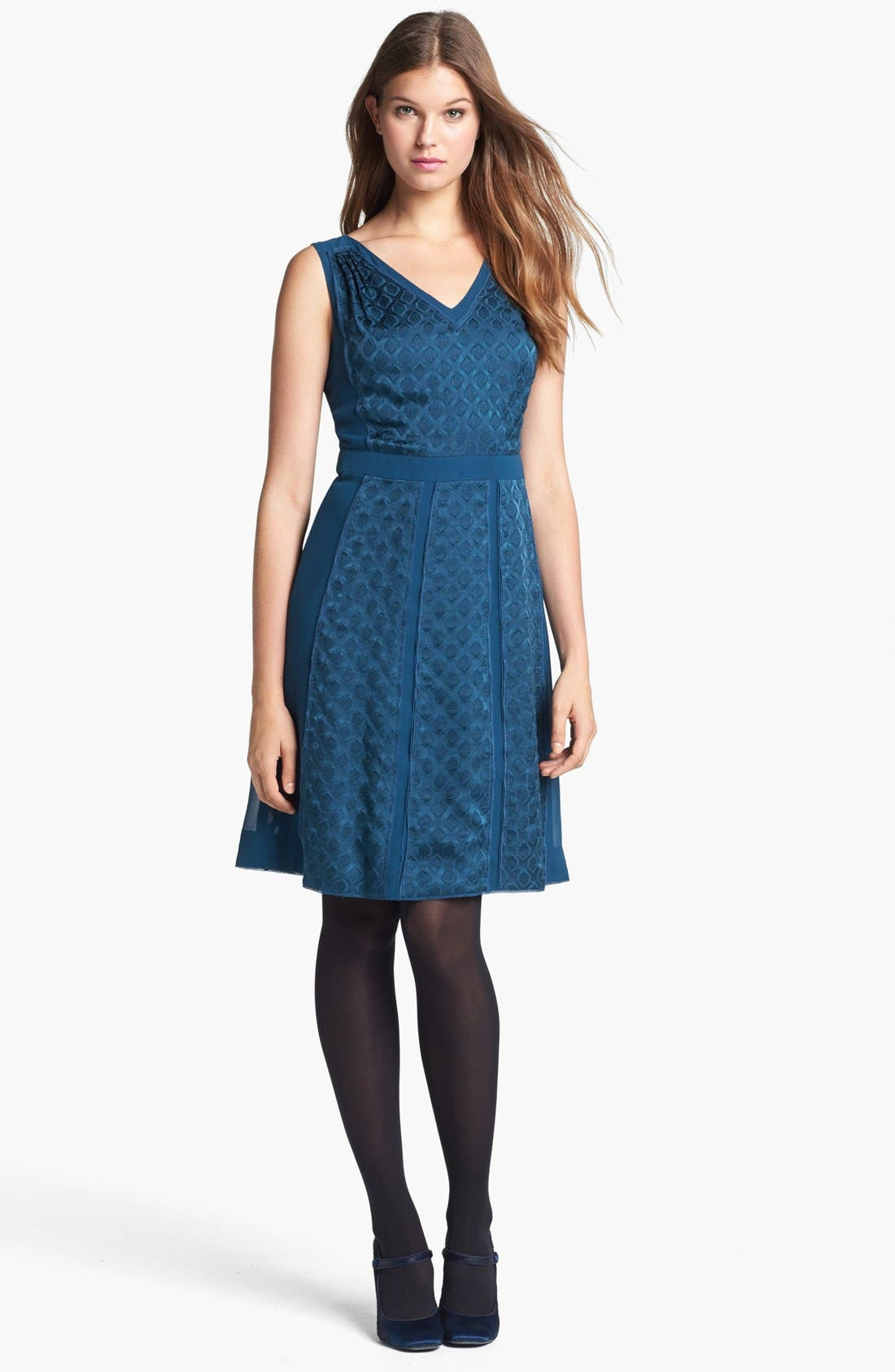 Alternate Image 1 Selected - Tory Burch 'Hadley' Silk A-Line Dress