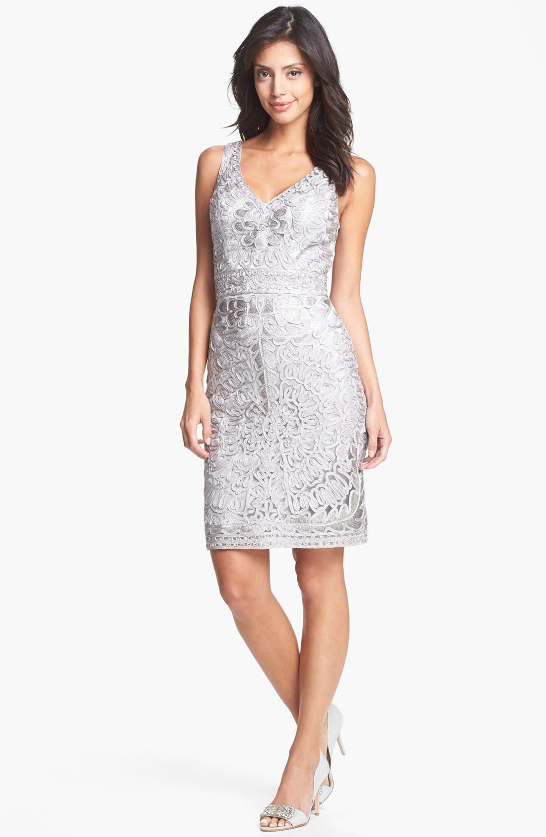 Alternate Image 1 Selected - Sue Wong Embroidered Lace Sheath Dress