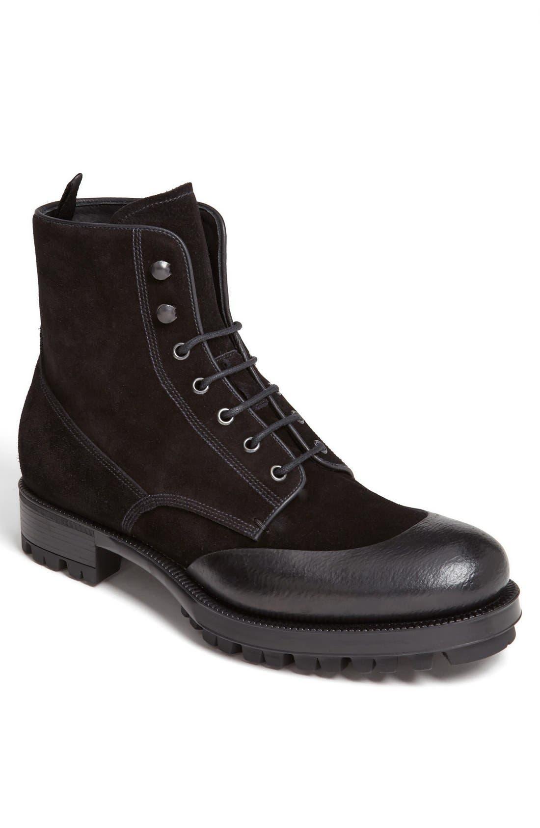 Main Image - Prada Rubber Overlay Lugged Boot