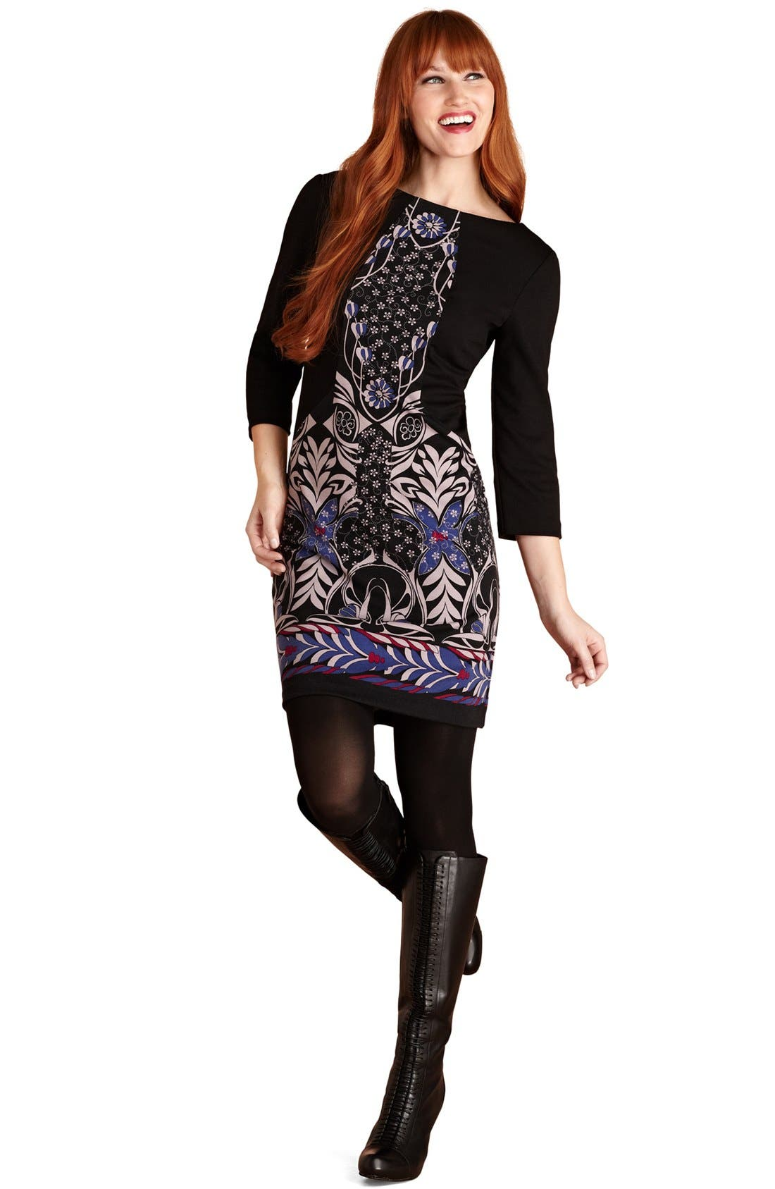 Main Image - Donna Morgan Print Ponte Knit Dress
