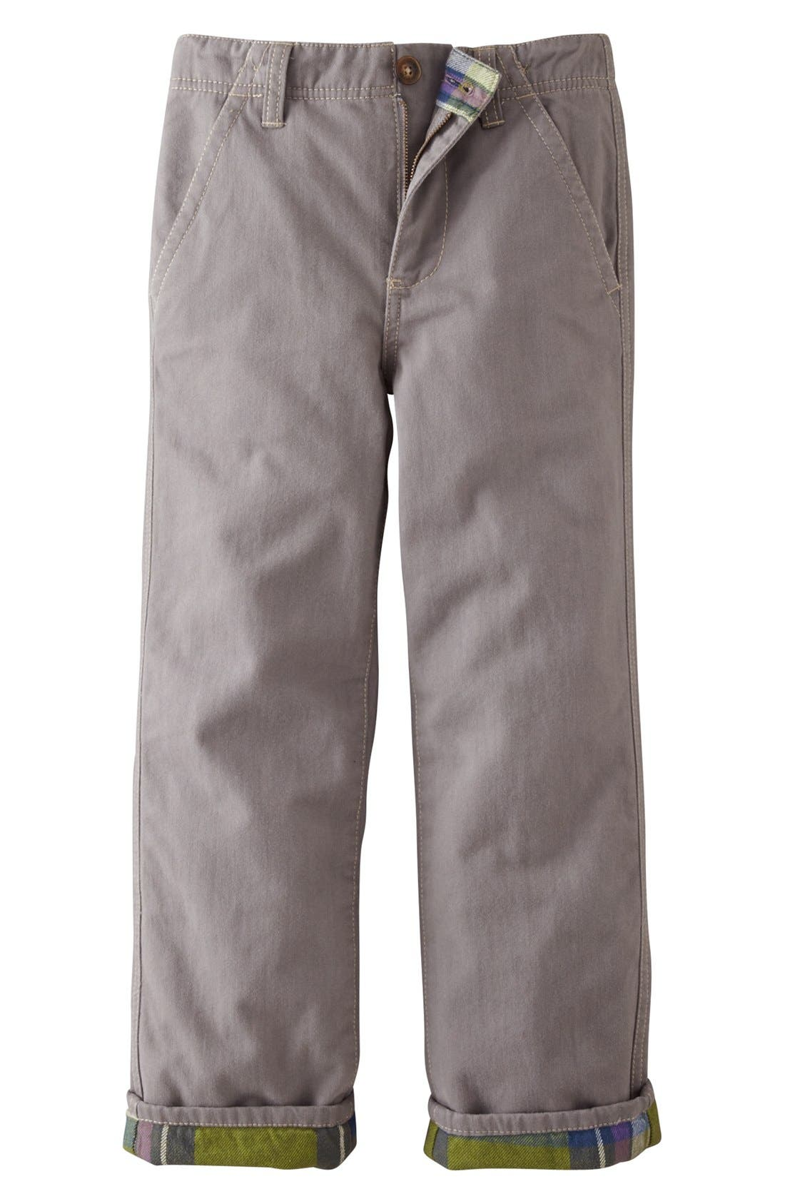 Alternate Image 1 Selected - Mini Boden Lined Chinos (Toddler Boys)