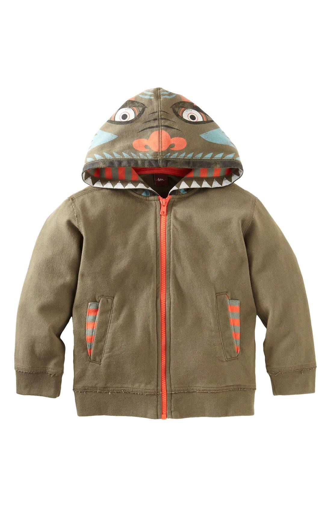 Main Image - Tea Collection 'Daring Dragon' Hoodie (Toddler)