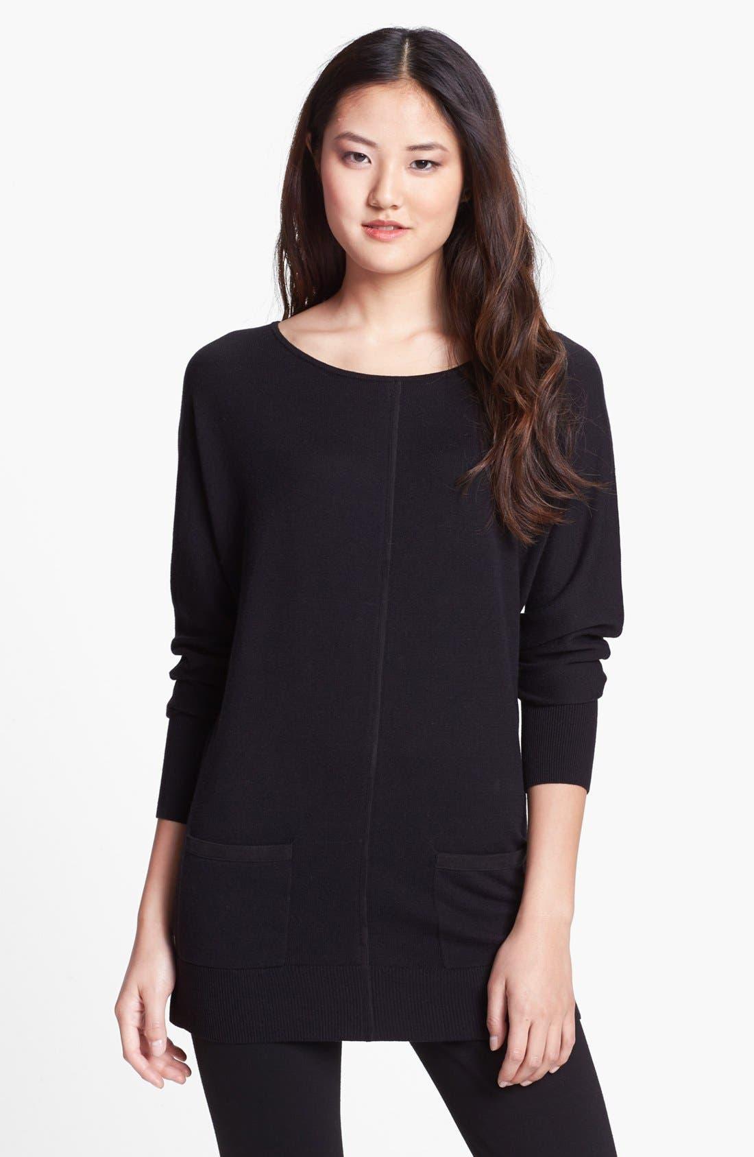 Alternate Image 1 Selected - Halogen® Dolman Sleeve Tunic Sweater (Regular & Petite)
