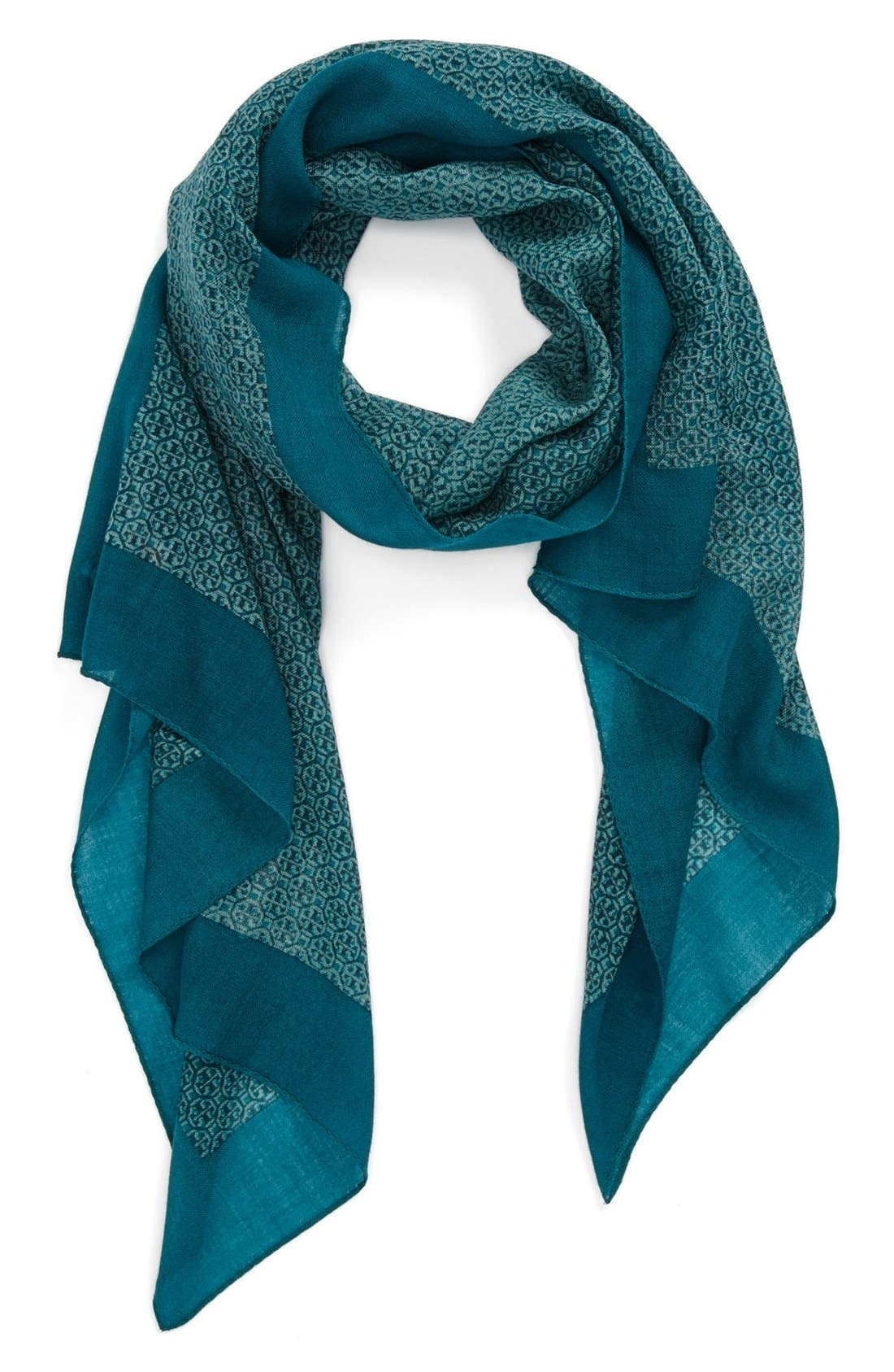 Main Image - Tory Burch 'Logo Lattice' Wool Scarf