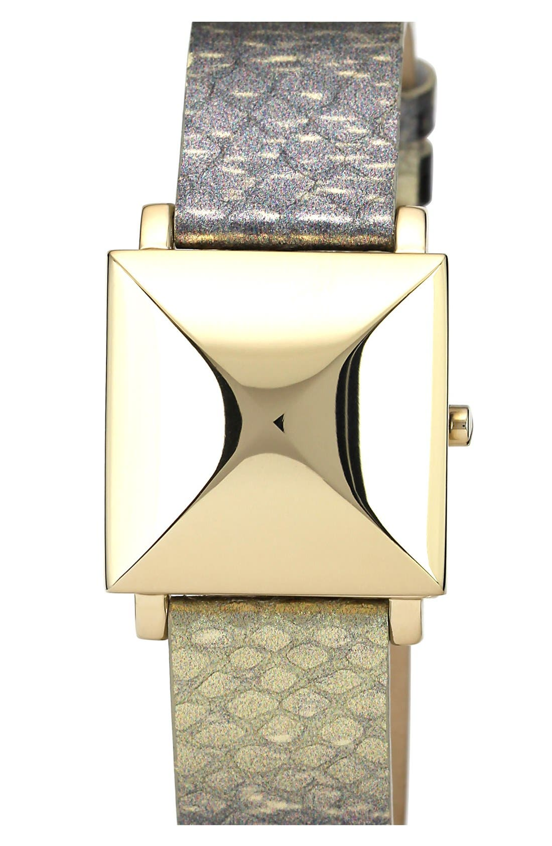 Alternate Image 2  - Vince Camuto Pyramid Case Embossed Leather Strap, 28mm