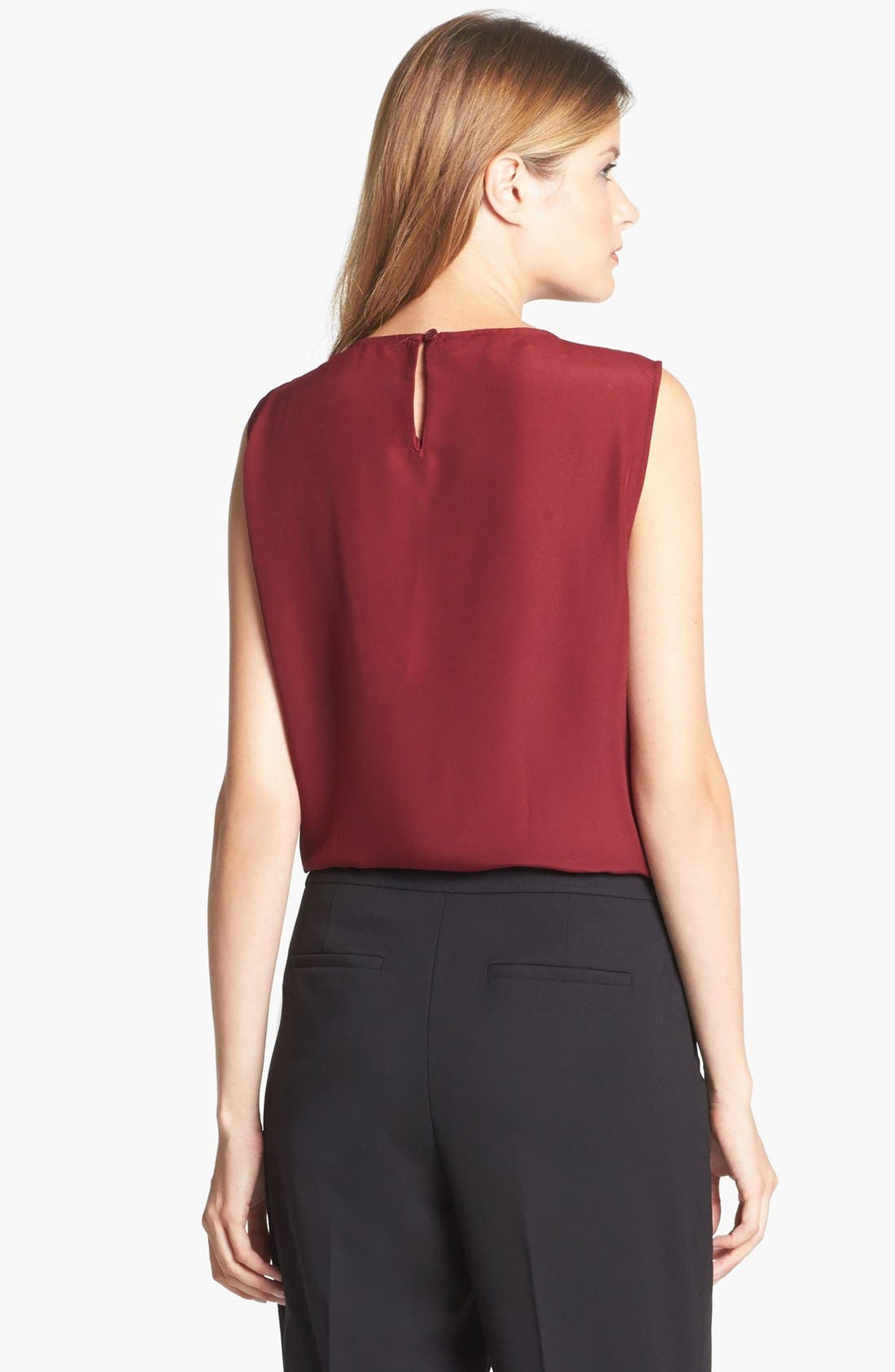Alternate Image 2  - Jones New York Collection 'Abby' Pleat Neck Blouse