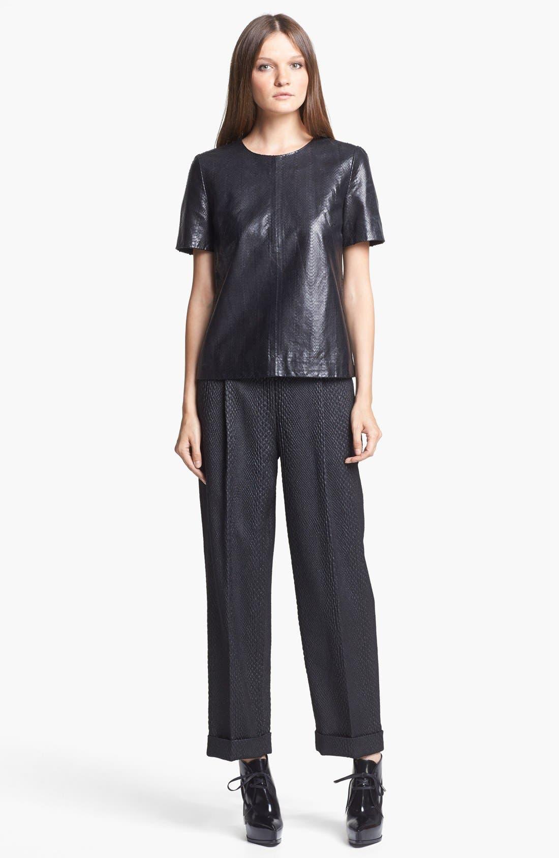 Alternate Image 4  - J Brand Ready-to-Wear 'Marilena' Leather Tee