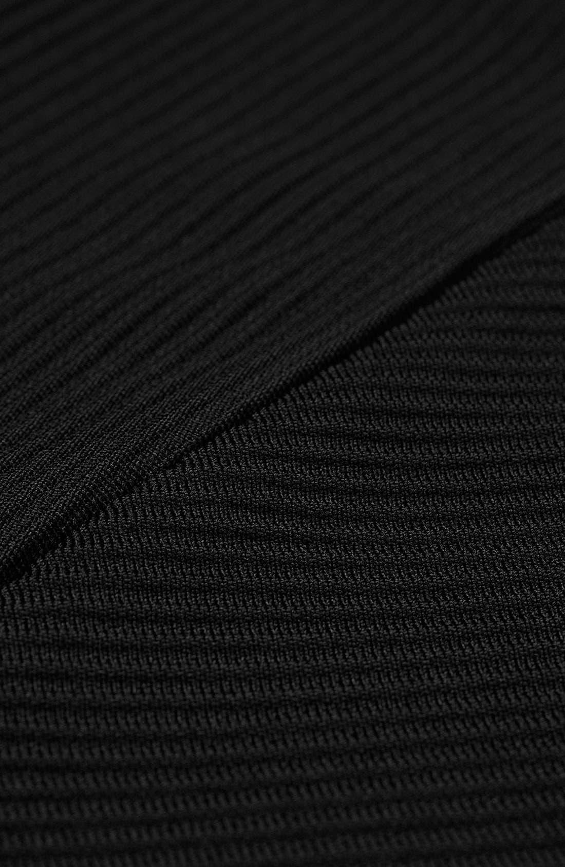 Alternate Image 3  - Topshop Ribbed Panel Miniskirt
