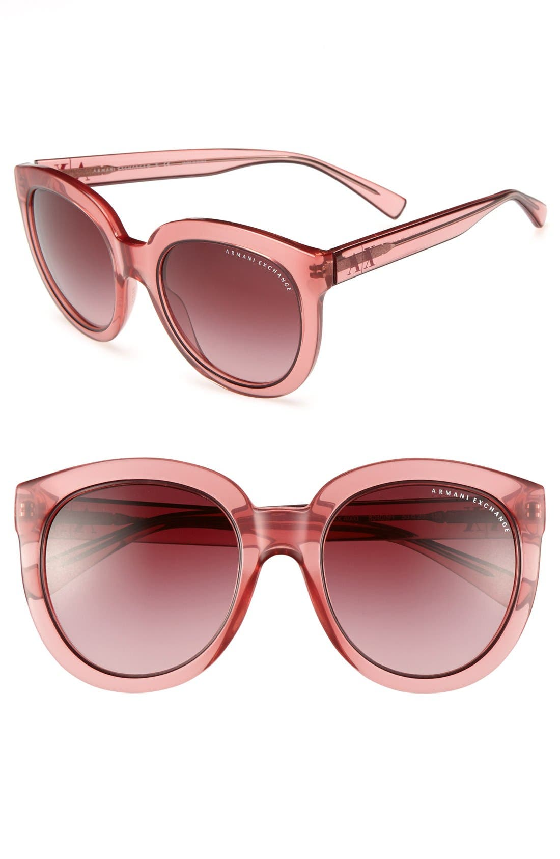Alternate Image 1 Selected - AX Armani Exchange 'Transparent Glam' 53mm Sunglasses