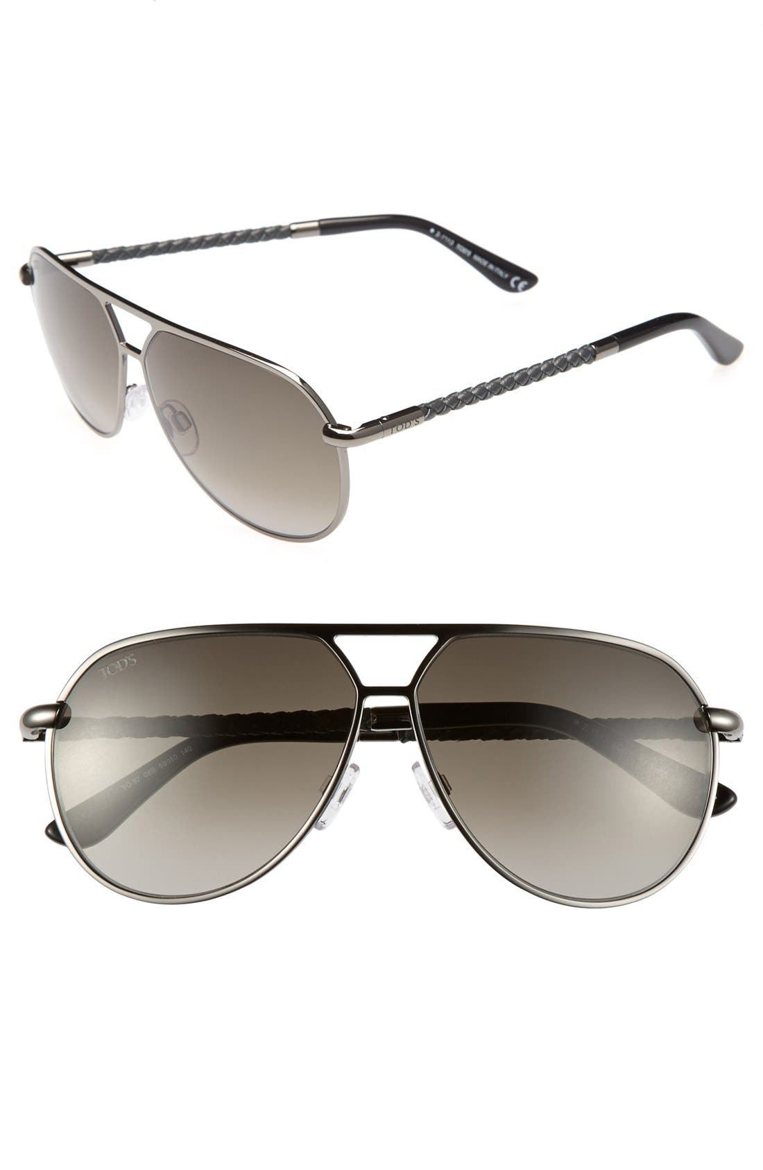 Alternate Image 1 Selected - Tod's 59mm Aviator Sunglasses