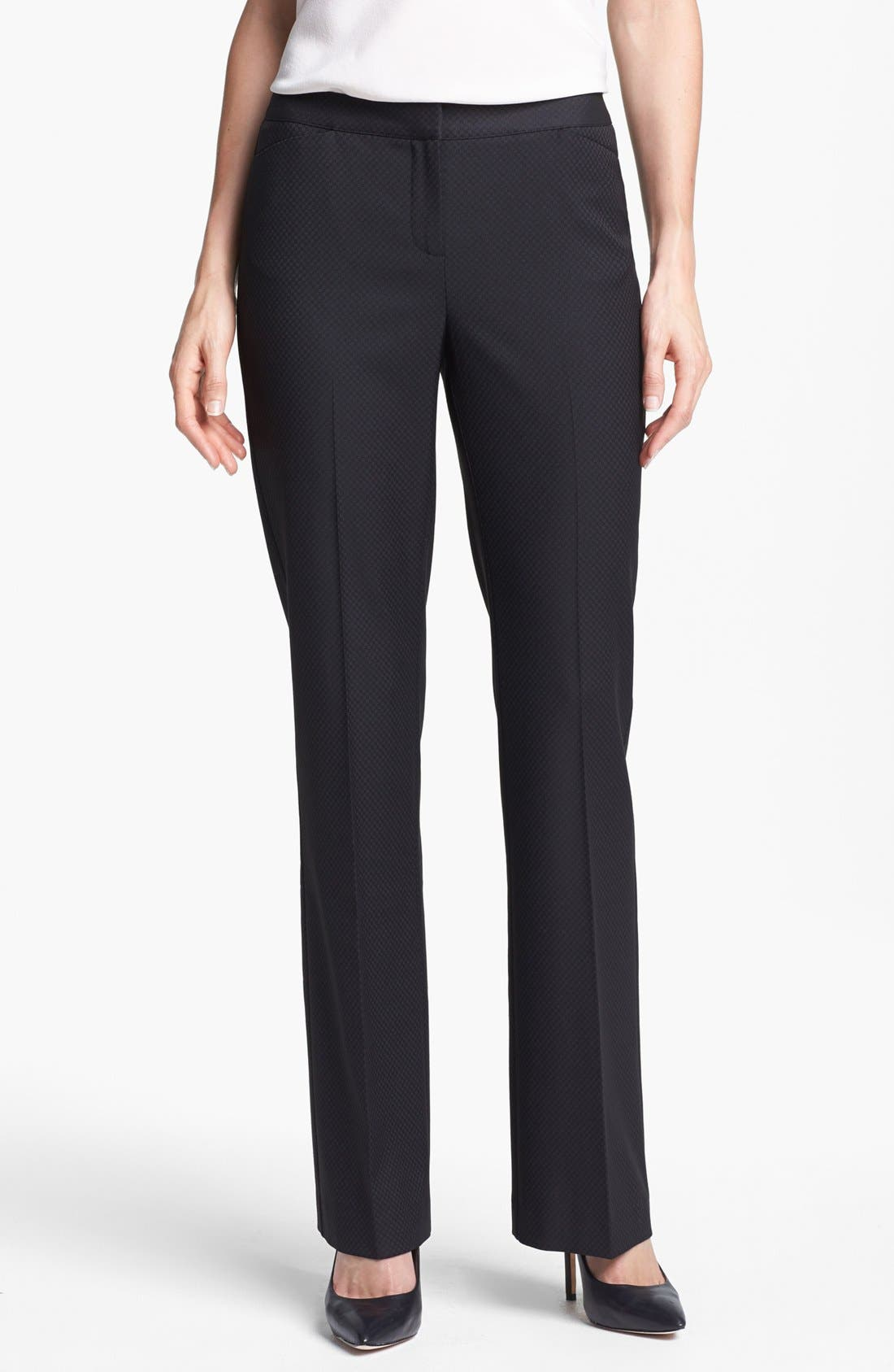 Alternate Image 1 Selected - Halogen® 'Quinn' Jacquard Pants (Regular & Petite)