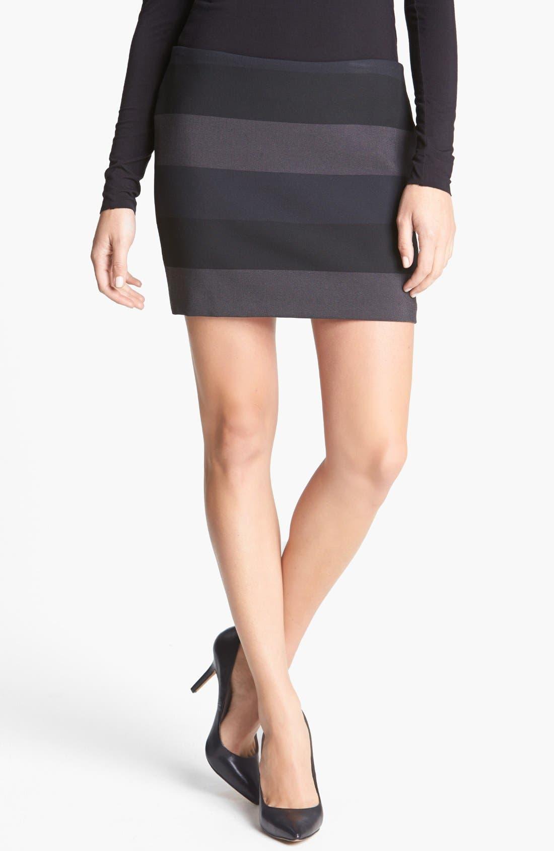 Alternate Image 1 Selected - Bailey 44 'Foreshadowing' Stripe Miniskirt
