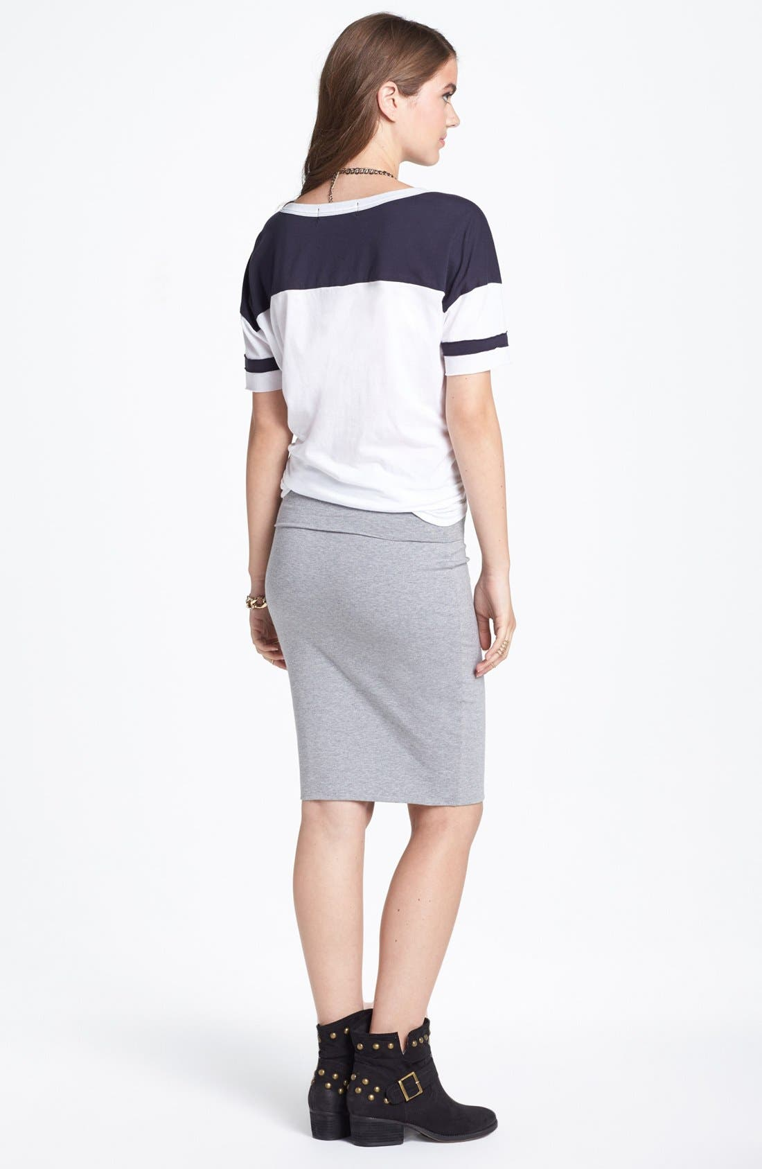 Alternate Image 2  - Lily White Mid-Length Pencil Skirt (Juniors) (Online Only)