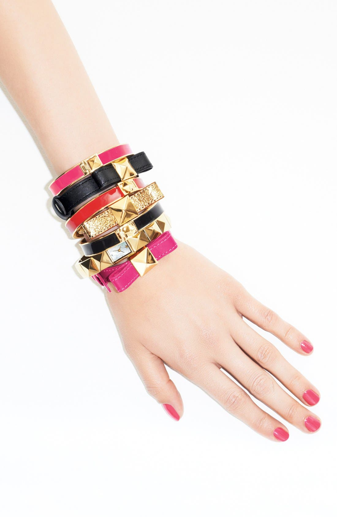 Alternate Image 2  - kate spade new york 'locked in' leather bow bracelet