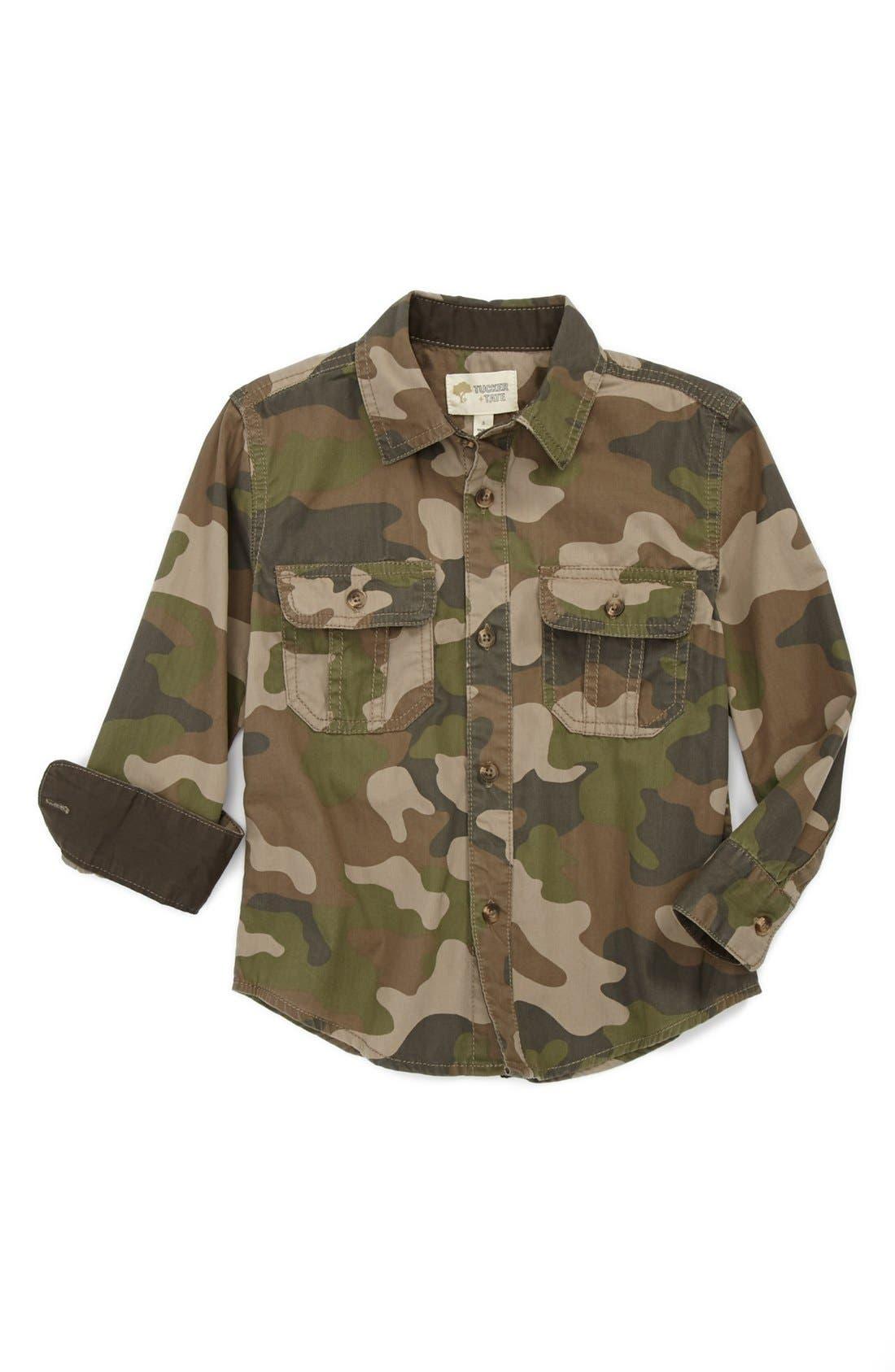 Alternate Image 1 Selected - Tucker + Tate 'Ackley' Woven Shirt (Toddler Boys)