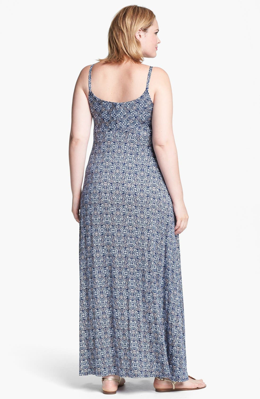 Alternate Image 2  - Olivia Moon Print Maxi Dress (Plus Size)