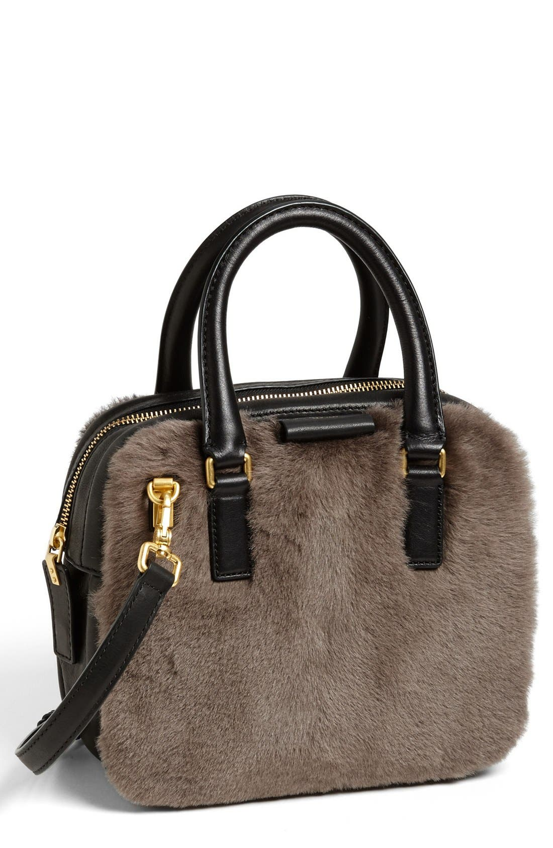 Main Image - MARC BY MARC JACOBS 'Show Group Clover' Genuine Shearling Crossbody Bag