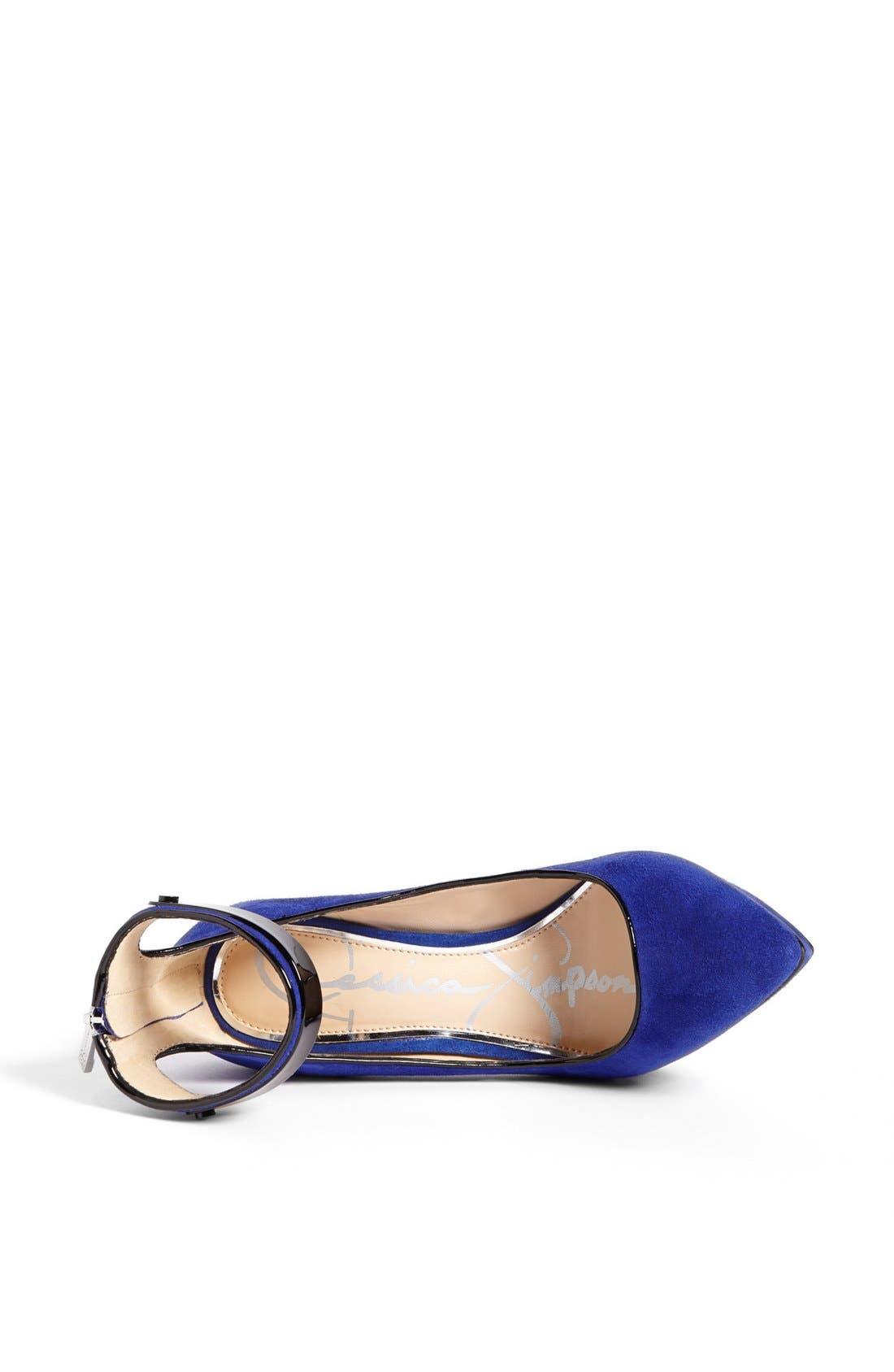 Alternate Image 3  - Jessica Simpson 'Violla' Ankle Strap Pointy Toe Pump