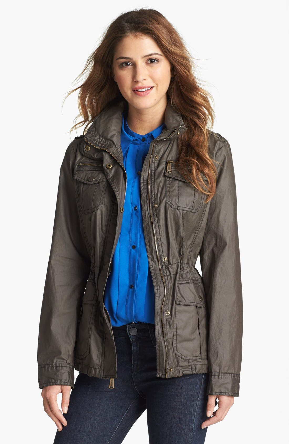 Main Image - MICHAEL Michael Kors Waxed Cotton Field Jacket