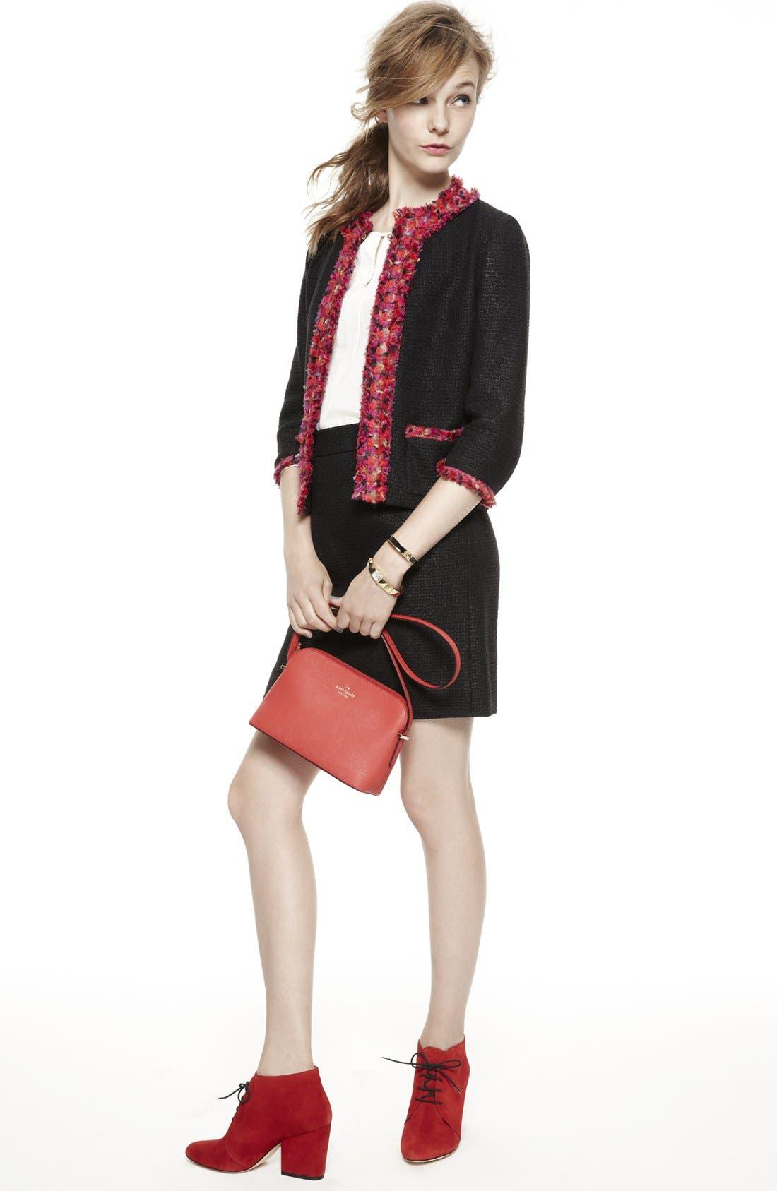 Main Image - kate spade new york jacket, silk top & skirt