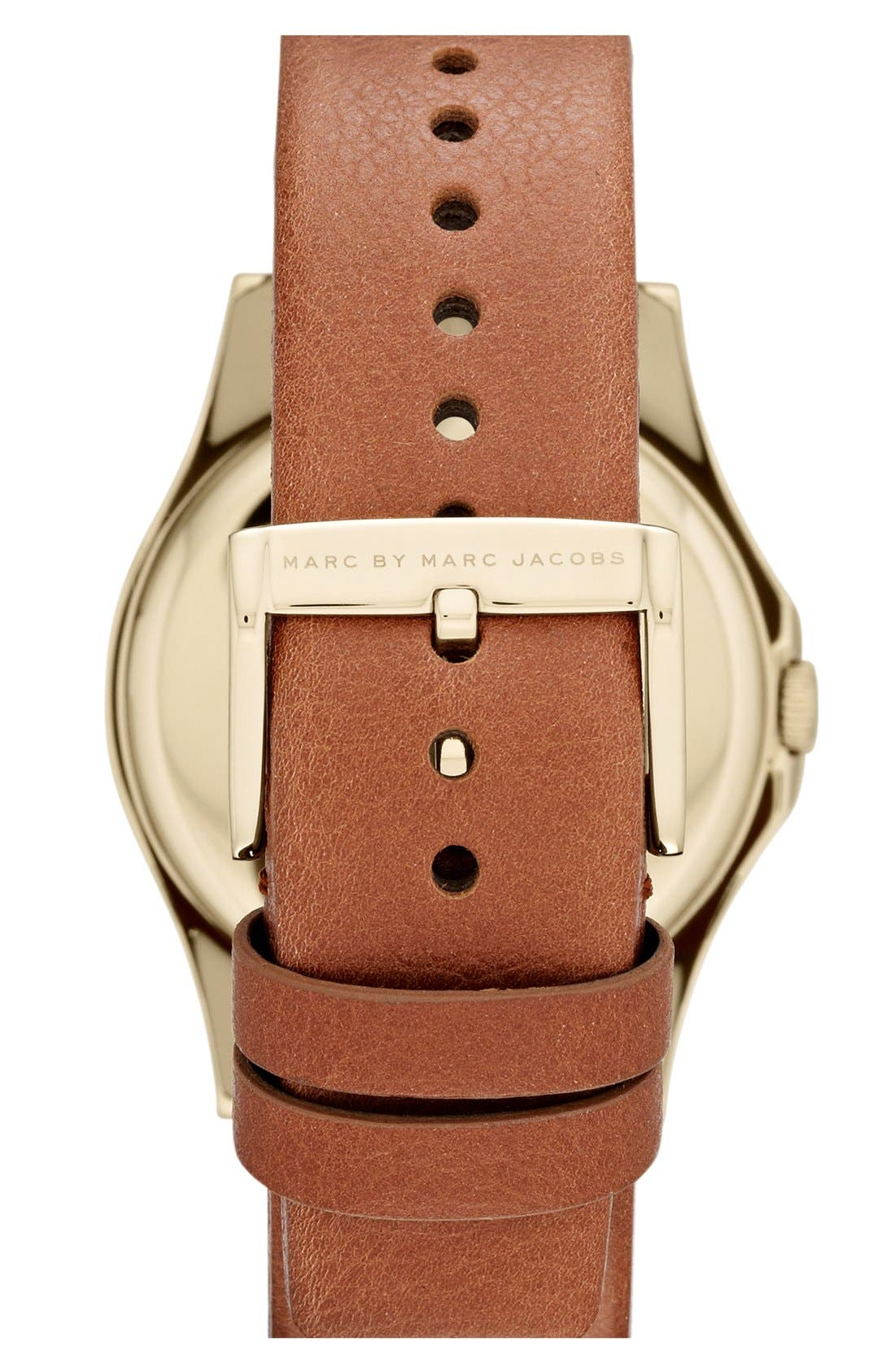 Alternate Image 2  - MARC BY MARC JACOBS 'Baby Dave' Leather Strap Watch, 40mm