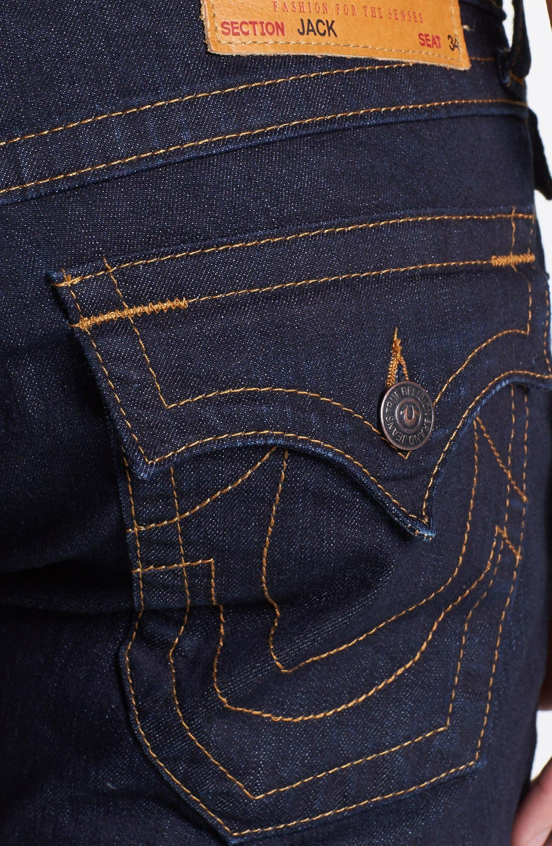 Alternate Image 4  - True Religion Brand Jeans 'Jack' Slim Fit Jeans (Midnight Blue)