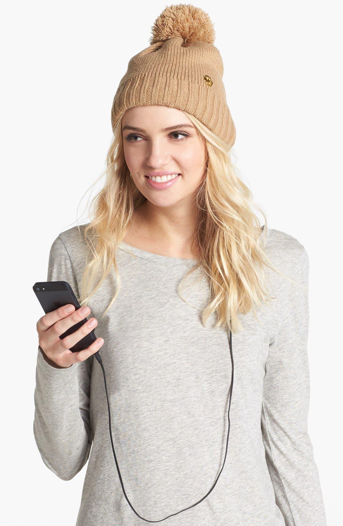 Main Image - MICHAEL Michael Kors 'Tech' Knit Hat