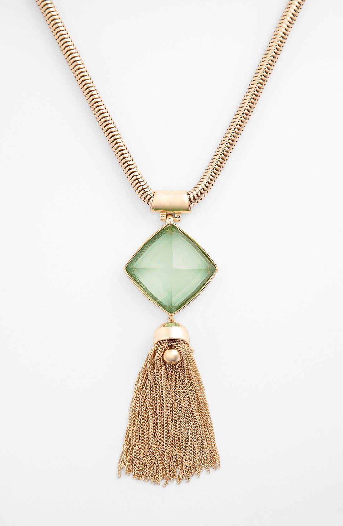 Alternate Image 1 Selected - Anne Klein Tassel Pendant Necklace