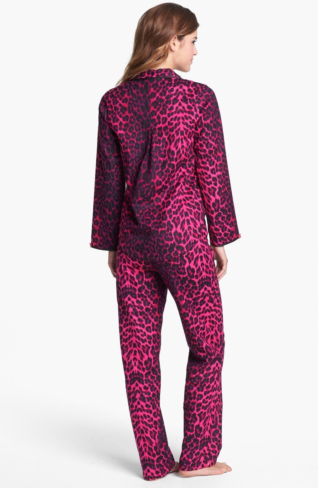 Alternate Image 2  - Betsey Johnson Print Flannel Pajamas