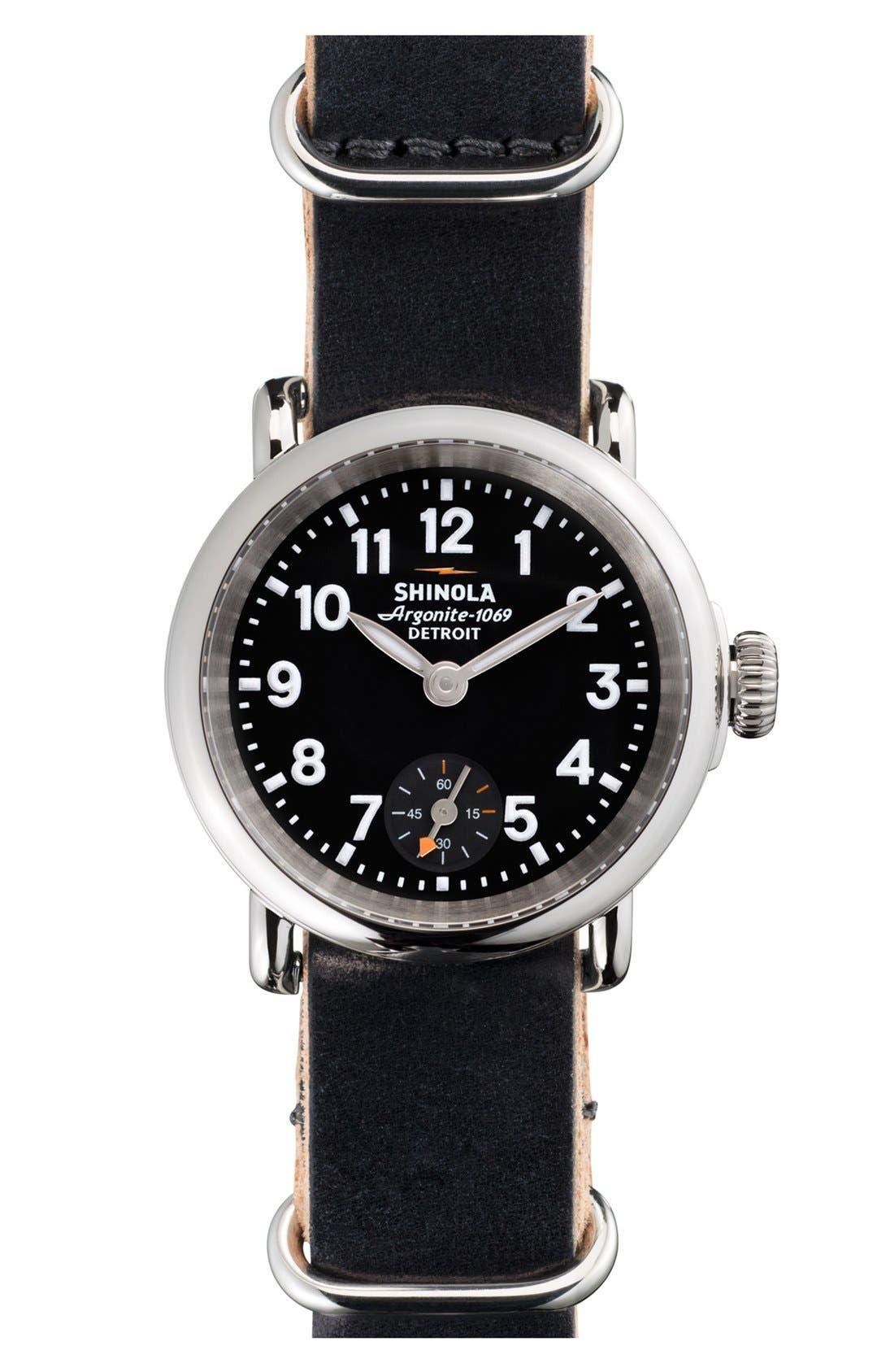 Main Image - Shinola 'The Runwell' Leather Strap Watch, 28mm