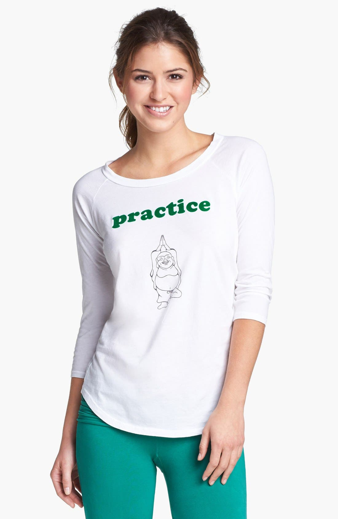 Alternate Image 1 Selected - OMGIRL 'Practice Happiness Zen' Tee