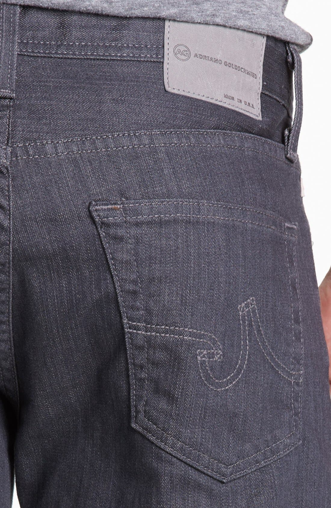 Alternate Image 4  - AG 'Graduate' Tailored Fit Straight Leg Jeans (1 Year Grey)