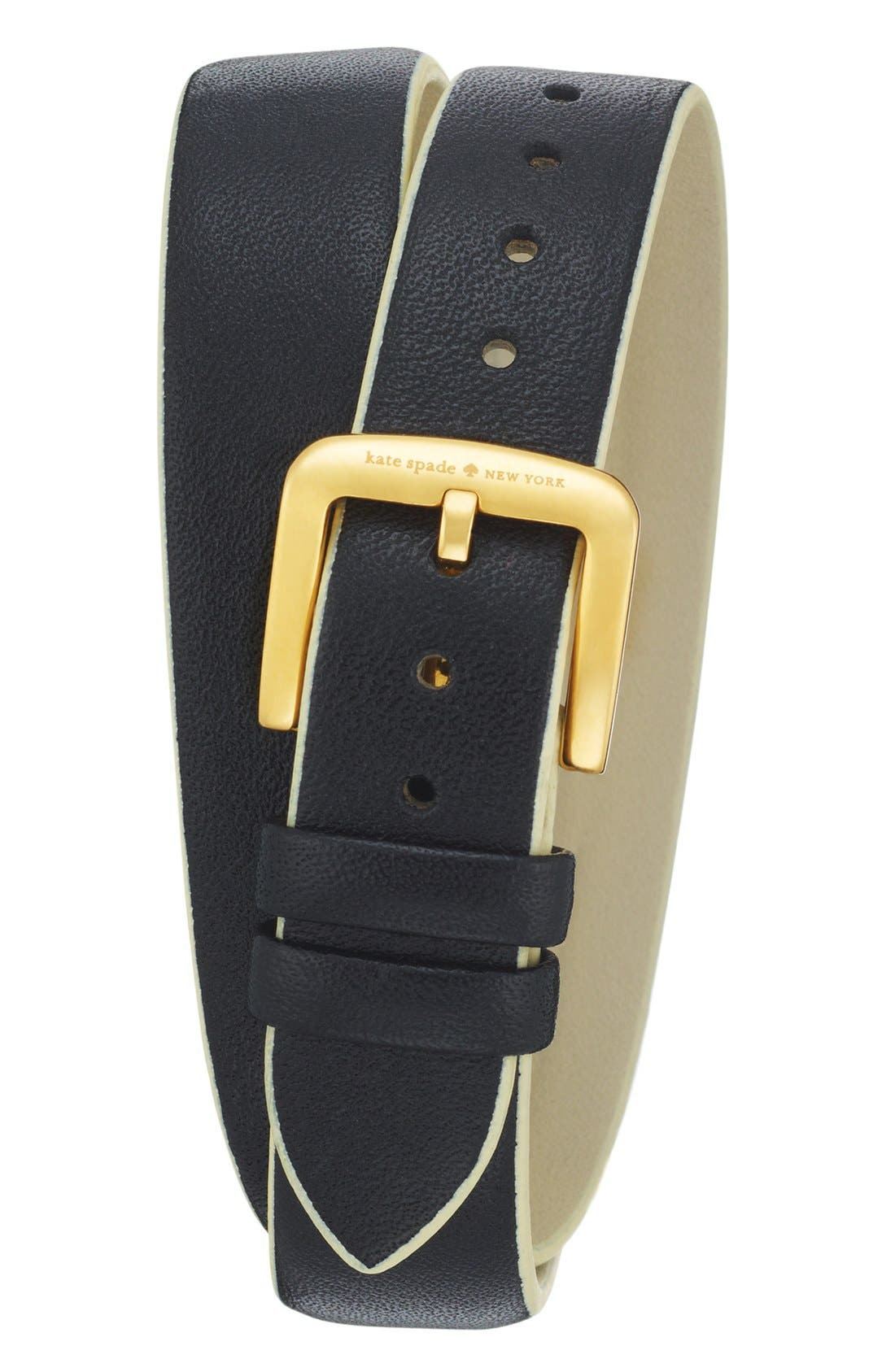 Alternate Image 2  - kate spade new york 'cooper' double wrap watch, 20mm x 25mm